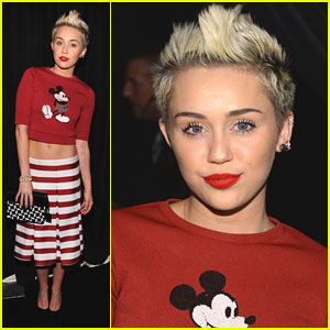 Miley Cyrus Mickey Mouse top